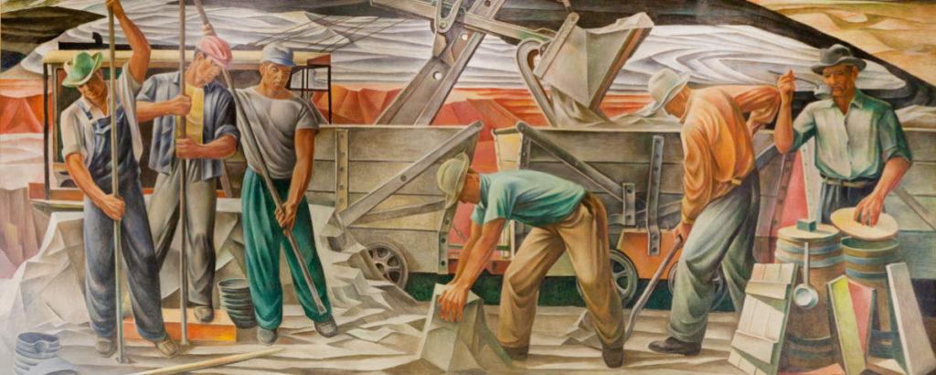 """The Bauxite Mines"" (1942) by Julius Woeltz"